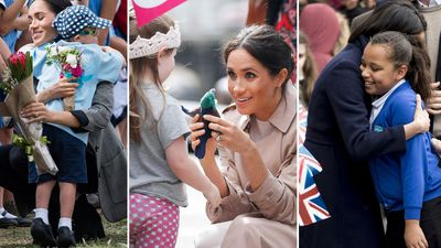 Meghan's most adorable moments with kids
