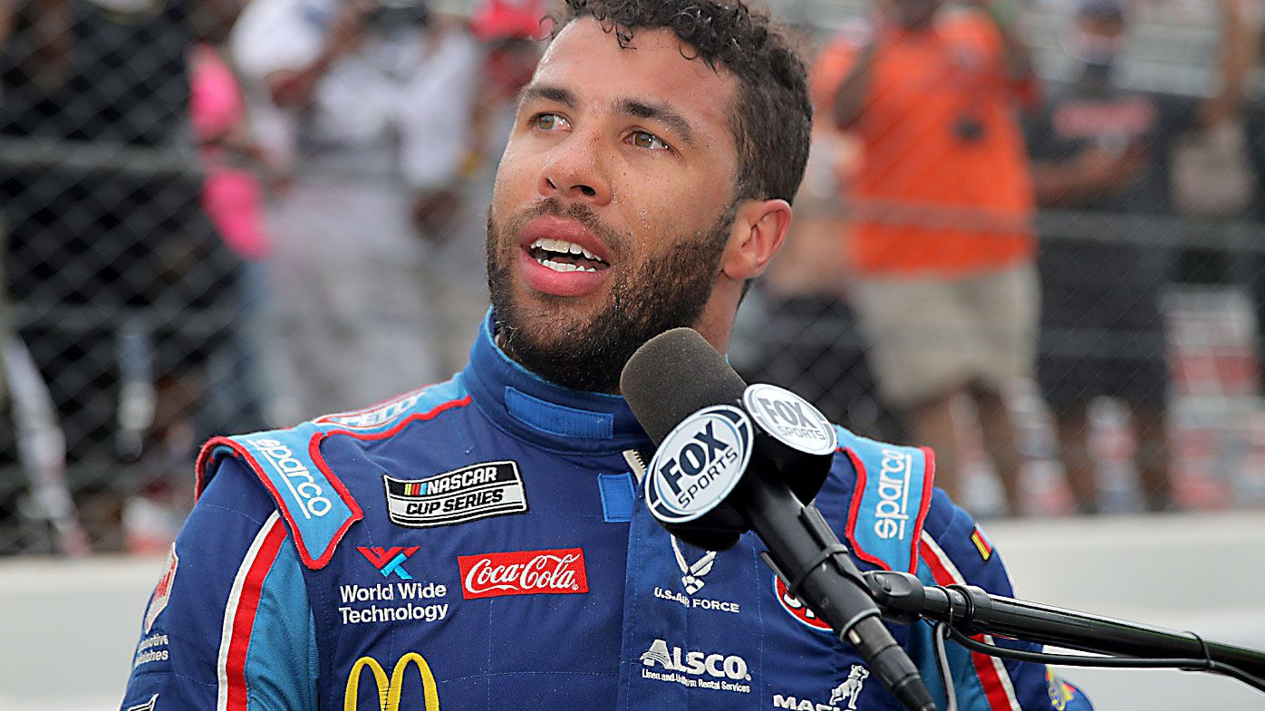 Bubba Wallace, driver of the #43 Victory Junction Chevrolet