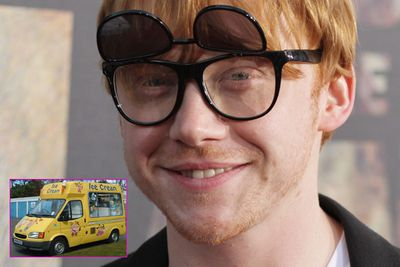 Rupert Grint- so unsuspecting but so, so strange. Last year, the Harry Potter star bought an orange Range Rover (obviously to match his carroty locks) and a hovercraft. Yeah, just 'cause he can. Oh, and he also owns an ice cream van.