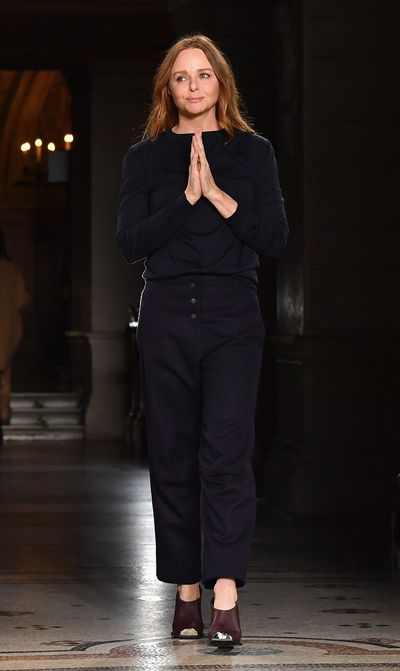<p>Stella McCartney, autumn/winter '17</p> <p><strong>The look: </strong>Namaste. Vegan chic</p>
