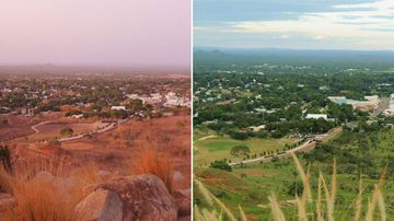 Before and after: Charters Towers, north Queensland. (Facebook/Craig Collins‎)