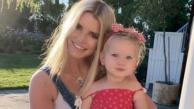 Jessica Simpson and Birdie.