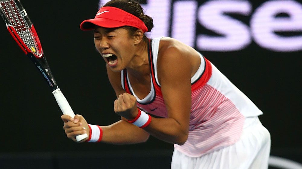 Unheralded Zhang beats second seed Halep