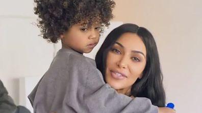 Kim Kardashian, Kanye West,  Saint West and Chicago West in Vogue