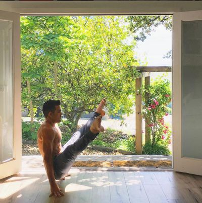 """<strong>Dustin Brown, founder of <a href=""""http://www.warrioroneyoga.com.au/"""">Warrior One Yoga</a>, will do a restorative yoga session</strong>"""
