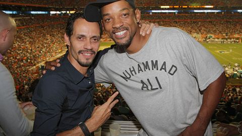 Bromance: Marc Anthony and Will Smith keen to show they're not in a love triangle
