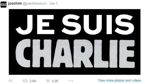 Roncin never expected his slogan to go viral when he tweeted it after the Paris attacks. (Twitter)