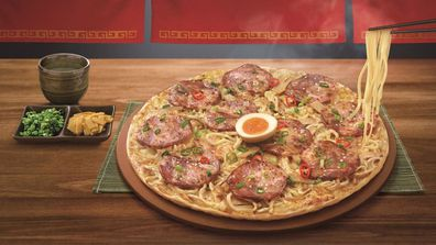 Pizza Hut Taiwan ramen pizza