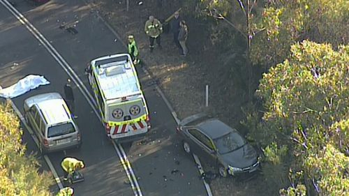 One motorcyclist died at the scene and two others suffered critical injuries. Image: 9News
