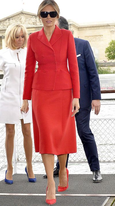<p>3. Melania Trump</p> <p>First Lady of the United States 2017- Present</p> <p>Designated Designers- Dolce &amp; Gabbana, Herv&eacute; Pierre, Max Mara<br /> <br /> </p> <p>&nbsp;</p>