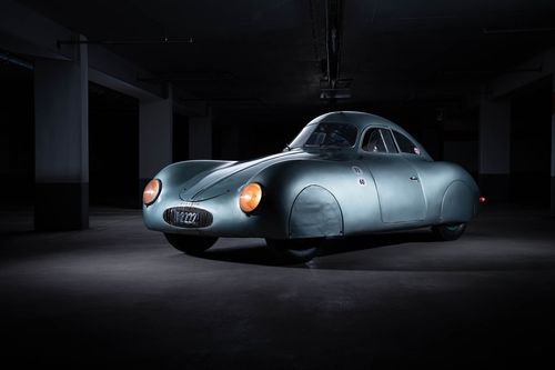 """The Type 64 was based on one of Ferdinand Porsche's earlier designs, the KdF-Wagen. The Kraft-durch-Freude-Wagen (which translates to """"strength through joy car"""") was supposed to be an inexpensive automobile for German families, something the Nazi government could celebrate as an achievement for its people"""