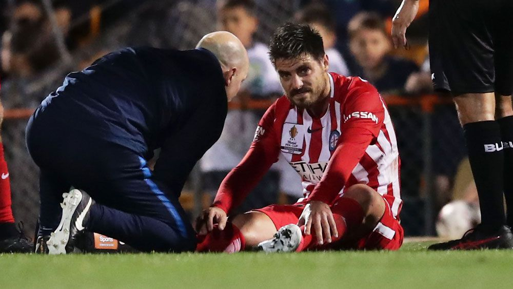 Melbourne City sweat on scans for captain Bruno Fornaroli and Michael Jakobsen after FFA Cup win
