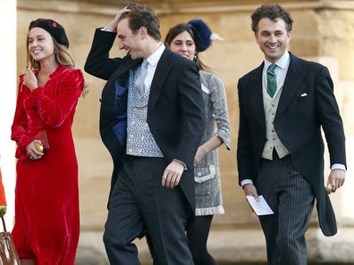 van Straubenzee brothers at Princess Eugenie's wedding.
