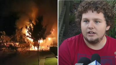 Teens save woman from raging house fire