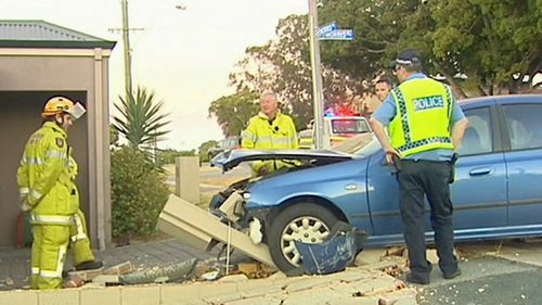 A man was injured after an allegedly drunk and unlicensed driver lost control of his Ford Falcon.