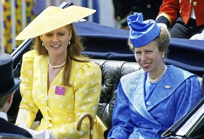 Sarah, Duchess of York and Anne, Princess Royal at Royal Ascot 1987