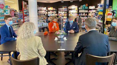 Belgium's King and Queen visit local pharmacies