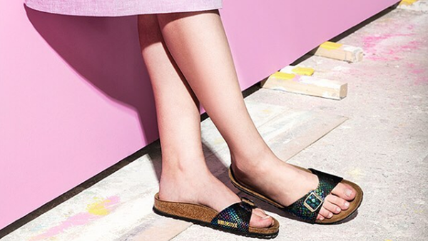 Cork-soled shoes are terrific. Cork-based skincare might be too. Image: Instagram/@birkenstock