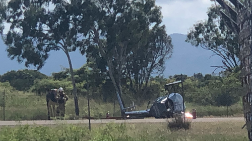 Queensland learner pilot escapes low impact Townsville helicopter crash unscathed