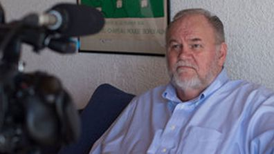 Thomas Markle filming Channel 5 documentary Thomas Markle: My Story at his Mexico home in October 2019