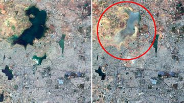 190621 India water shortage Chennai satellite pictures news Asia World