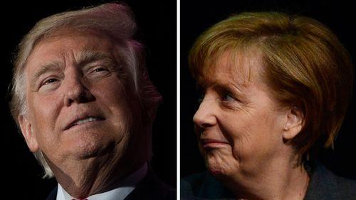 Angela Merkel and Donald Trump meet tomorrow amid tense ties