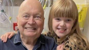Bert Newton with his daughter Lola.