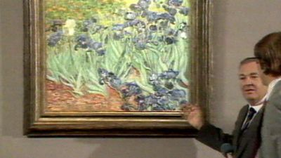 Bond staggered the art world by paying $54 million for Van Gogh's Irises.