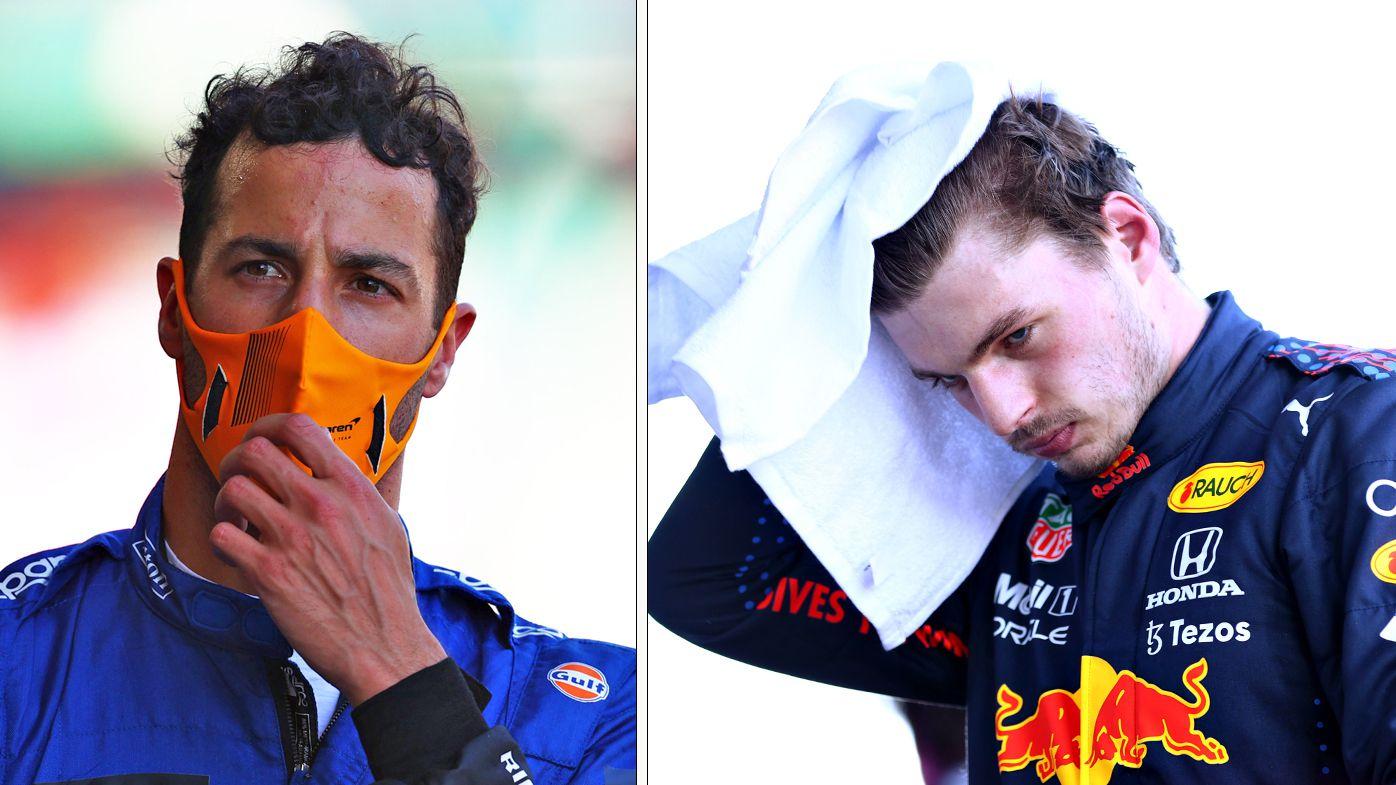 Daniel Ricciardo and Max Verstappen