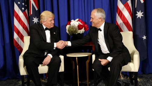 Donald Trump and Malcolm Turnbull met in New York in June of last year. (AAP)