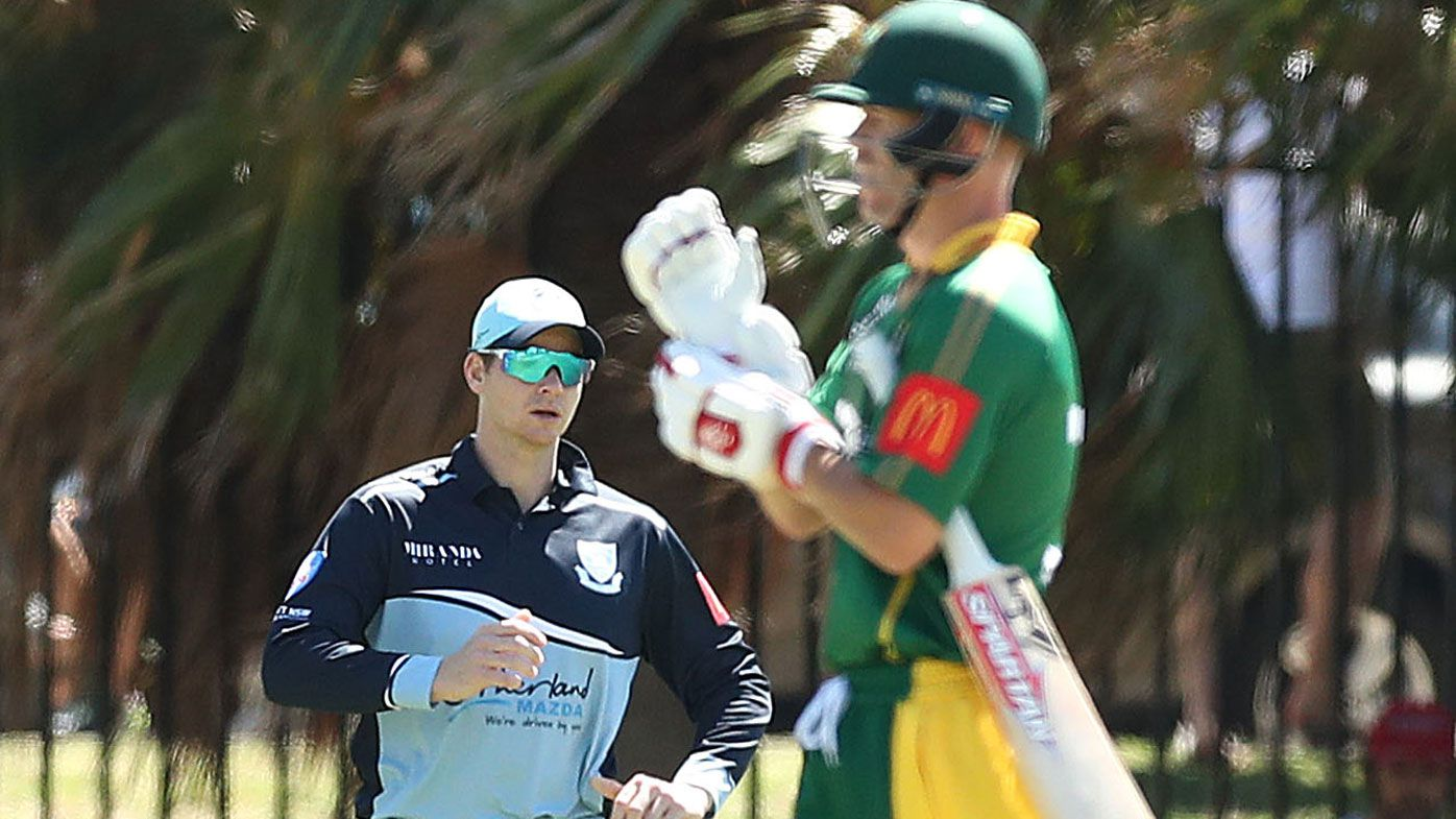 Warner falls cheaply against Smith's Sutherland in grade cricket clash