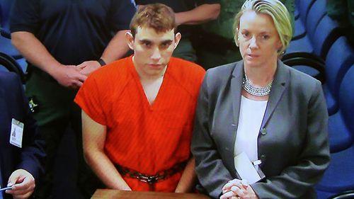 Nikolas Cruz in court.
