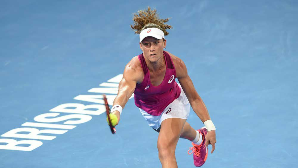 Sore Stosur battles to Brisbane tennis win