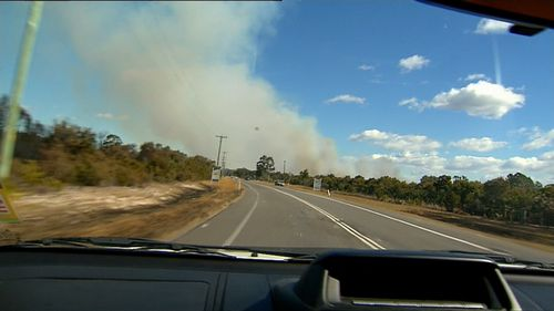 Residents close to the out-of-control blaze have been urged to seek shelter.