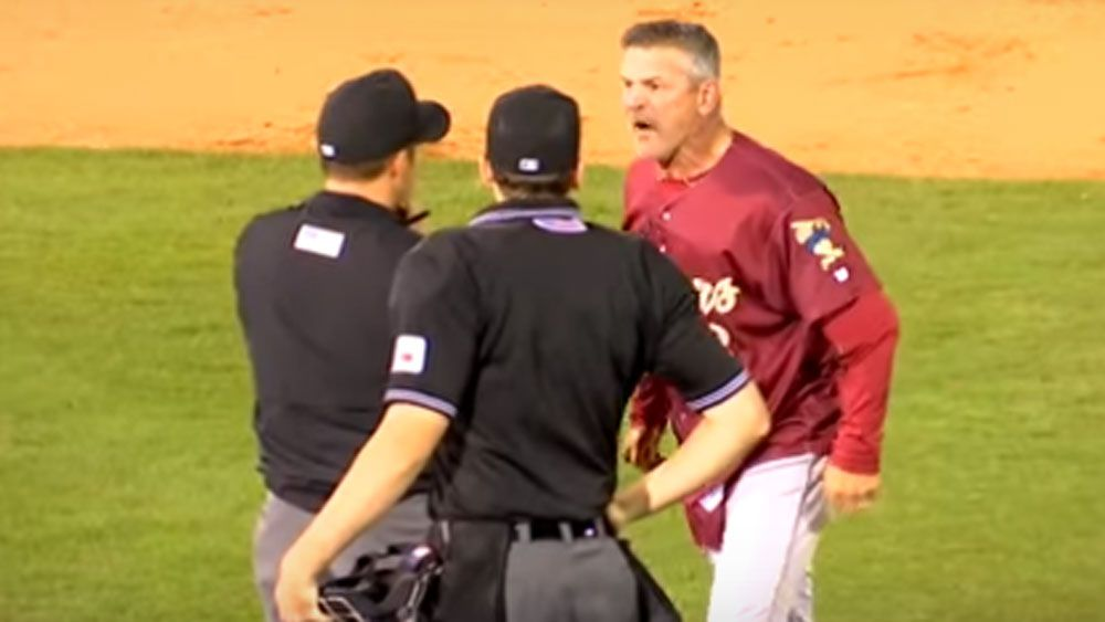 Baseball manager throws epic tantrum