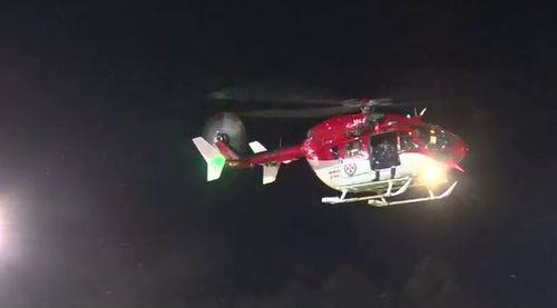 The 29-year-old woman was airlifted to hospital where she is now in a stable condition. (9NEWS)