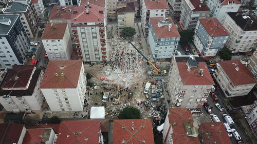 Authorities have not disclosed how many people remain unaccounted for. The building had 14 apartments with 43 people registered as residents.