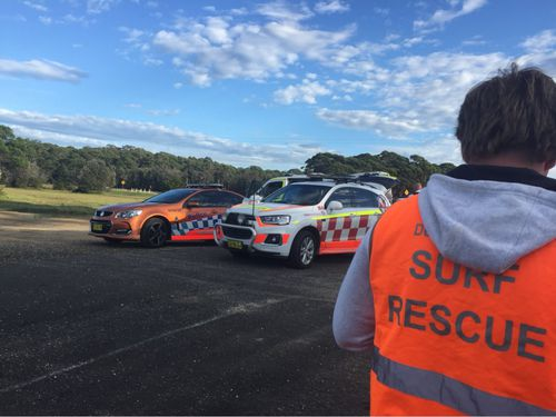 A 13-year-old girl has died after a boat capsized attempting to cross the Moruya River, south of Batemans Bay, on the NSW south coast today. Picture: Twitter/@SLSNSW.