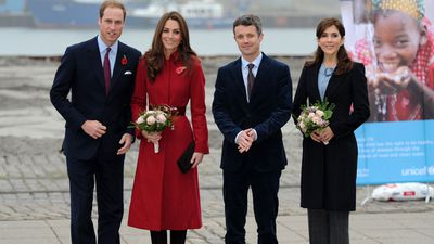 Prince Frederik, Princess Mary and the Duke and Duchess of Cambridge