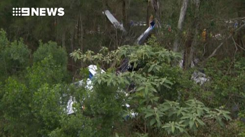 Police received a number of calls about a plane in trouble about 4.30pm. (9NEWS)