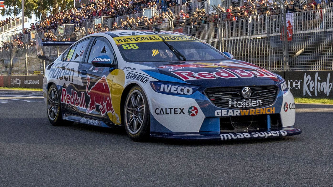 Jamie Whincup in action at the Adelaide 500.