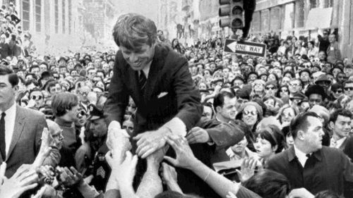 Robert Kennedy ran for president in 1968, but was assassinated minutes after he claimed victory in the California primary.