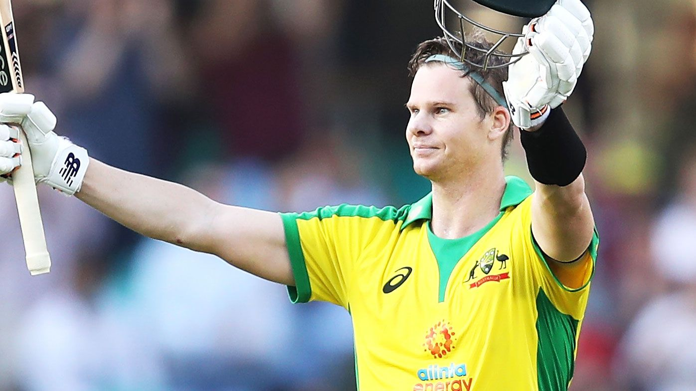 Steve Smith notched a memorable ton in the first ODI against India. (Getty)
