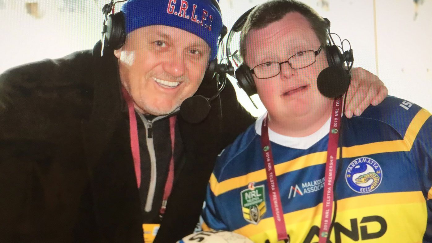 Nine NRL commentator Ray Hadley gets surprise visit during Thursday Night Football