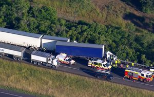 Traffic chaos after two trucks collide on Hume Highway near Campbelltown