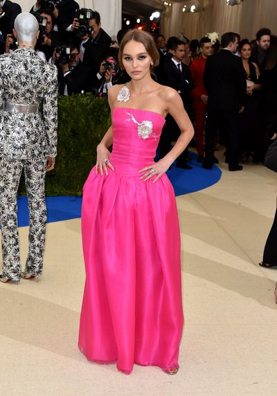 Lily Rose Depp in Chanel at the 2017 Met Gala, Rei Kawakubo/Comme des Garcons: Art Of The In-Between