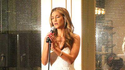 Singer Delta Goodrem performs.