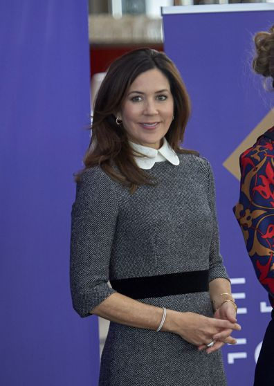 Princess Mary recycles favourite Prada dress for the sixth time as she returns to Denmark