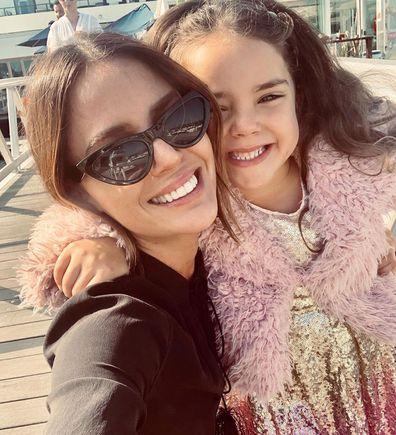 Jodi Anasta with daughter Aleeia