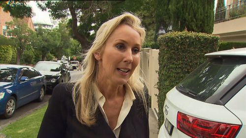 Tania Hird spoke to the media outside her home this morning.